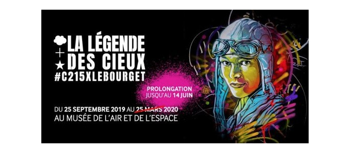 C215 : La légende des Cieux exhibition is extended at Le Bourget, France
