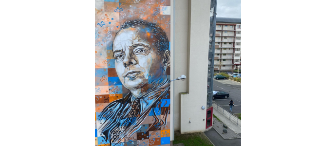 New wall painting by C215 in tribute to French writer Saint-Exupéry
